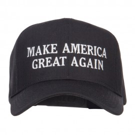 Make America Great Again Embroidered Cap - Black