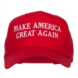 Make America Great Again Embroidered Cap - Red