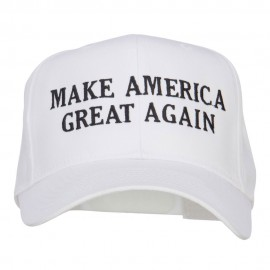 Make America Great Again Embroidered Cap - White