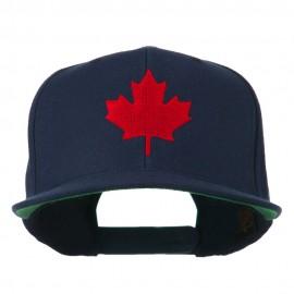Canada Maple Leaf Embroidered Flat Bill Cap