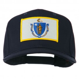 Massachusetts State High Profile Patch Cap - Navy