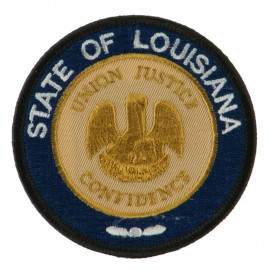 Mid State Seal Embroidered Patch - Louisiana
