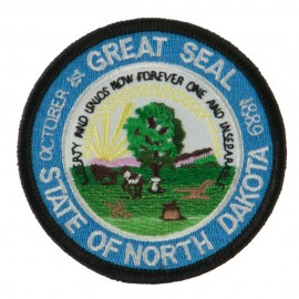 Mid State Seal Embroidered Patch - North Dakota