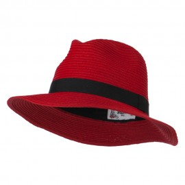 Big Brim Fedora - Red