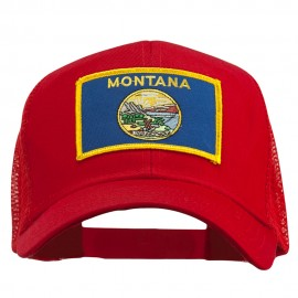 Montana State Flag Patched Mesh Cap