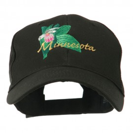 USA State Flower Minnesota Embroidery Cap