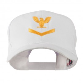 Military Naval Stripe with Eagle Emblem Embroidered Cap