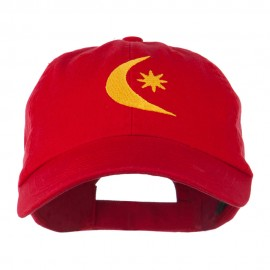 Moon and Star Embroidered Cap