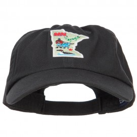 USA State Minnesota Patched Low Profile Cap - Black