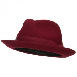 Women's Wool Felt Ribbon Fedora