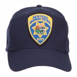 Montana State Highway Patrol Patched Cotton Cap - Navy