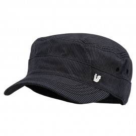 Men's Pinstripe Adjustable Fidel Cap - Black