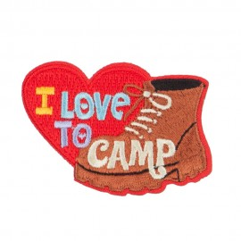 I Love Camp Outdoor Patches