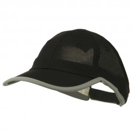 Athletic Mesh Ponytail Cap - Black