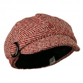 Muffy Patterned Newsboy Cap - Red