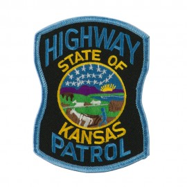 Mid State Police Embroidered Patches - KS Hwy