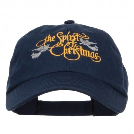 Spirit of Christmas Embroidered Low Cap