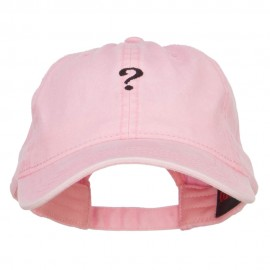 Mini Question Mark Embroidered Washed Cap