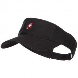 Mini Rocket Embroidered Cotton Washed Visor
