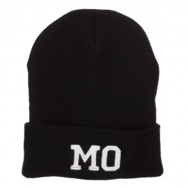 MO Missouri State Embroidered Long Beanie