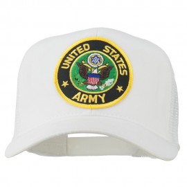 US Army Circular Patched Mesh Cap