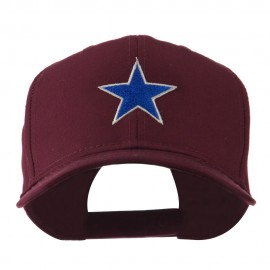 Mascot of Star with Outline Embroidered Cap
