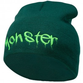 Monster Embroidered Short Beanie