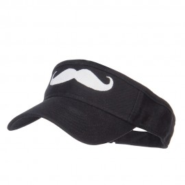 Mustache Embroidered Brushed Sun Visor