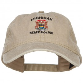 Michigan State Police Embroidered Washed Cap