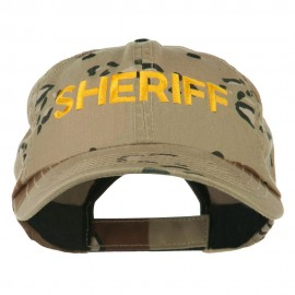 Sheriff Military Embroidered Camo Cap