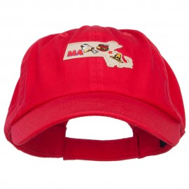 USA State Massachusetts Patched Low Profile Cap