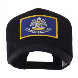 USA Mid State Embroidered Patch Cap - Louisiana