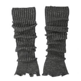 Ruffled Edge Metallic Leg Warmer