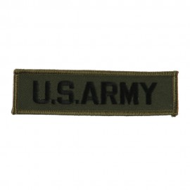 Military Related Text Embroidered Patch - Army
