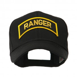 Military Related Text Embroidered Patch Cap - Ranger Gold