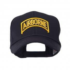 Military Related Text Embroidered Patch Cap - Airborne