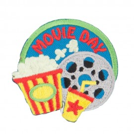 Movie Day Embroidered Patches