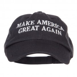 Make America Great Again Embroidered Low Cap - Black