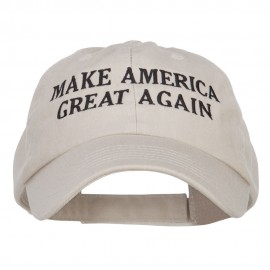 Make America Great Again Embroidered Low Cap - Stone