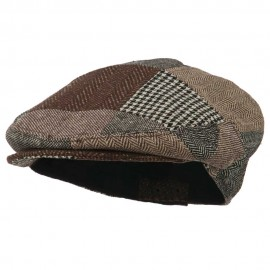 Men's Wool Blend Patchwork Ivy Cap