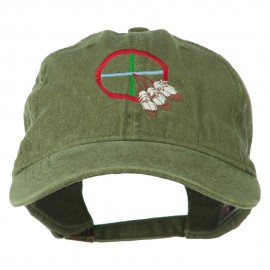 Medicine Wheel Embroidered Washed Cap
