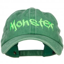 Halloween Monster Embroidered Unstructured Cap