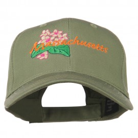 USA State Massachusetts Mayflower Embroidered Low Profile Cap