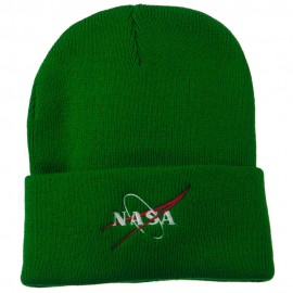 NASA Logo Embroidered Long Knit Beanie