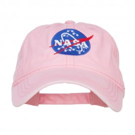 NASA Insignia Embroidered Pigment Dyed Cap - Pink