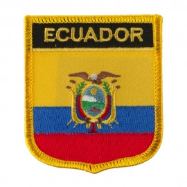 North and South America Flag Embroidered Patch Shield - Ecuador