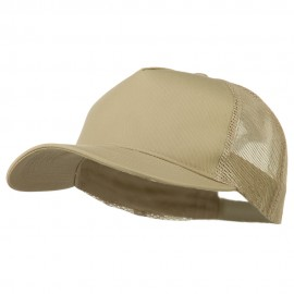 New Big Size Trucker Mesh Cap - Khaki