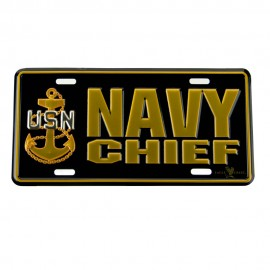 Navy 3D Car License Plate