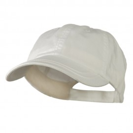Low Profile Normal Dyed Cotton Twill Cap - White