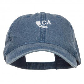 Mini California Bear Embroidered Washed Cap
